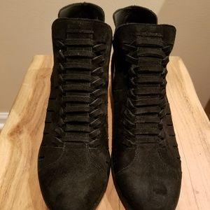 Cute black suede ankle booties
